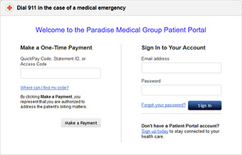Paradise Medical Group Patient Portal